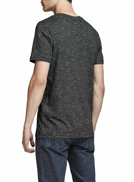 Camiseta Jack and Jones Comick Negro Hombre
