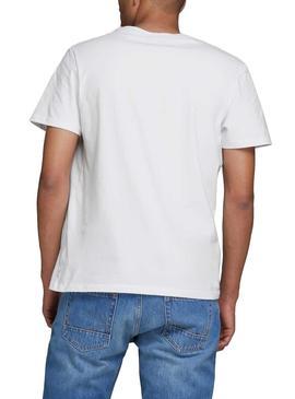 Camiseta Jack and Jones Comick Blanco Hombre