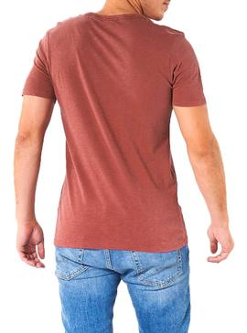 Camiseta Jack and Jones Kally Rojo Hombre
