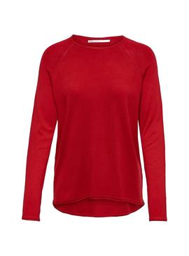 Jersey Only Mila Lacy Rojo Mujer