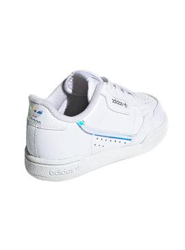 Zapatillas Adidas Continental 80E Blanco Kids