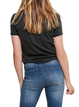 Camiseta Only Lucy Wild Negro Mujer