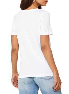 Camiseta Only Record Blanco Mujer