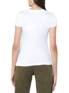 Camiseta Only Pacey Blanco Mujer