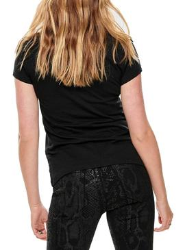 Camiseta Only Pacey Negro Mujer