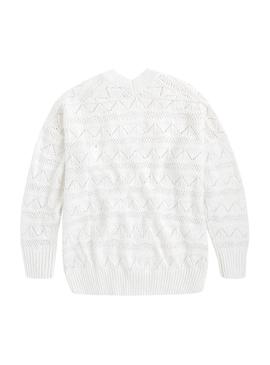 Jersey Pepe Jeans Pina Blanco Mujer