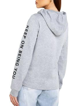 Sudadera Only Clear Gris Mujer