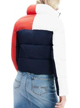 Cazadora Tommy Jeans Colorblock Acolchada Mujer