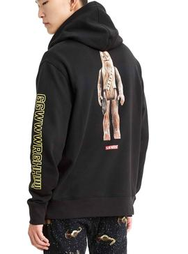 Sudadera Levis Star Wars Chewbacca Negro Hombre