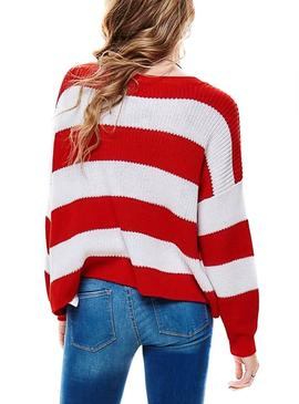 Jersey Only Campos Rojo Mujer