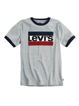 Camiseta Levis Heather Gris Niño