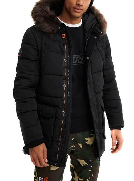 Parka Superdry Chinook Negra Hombre