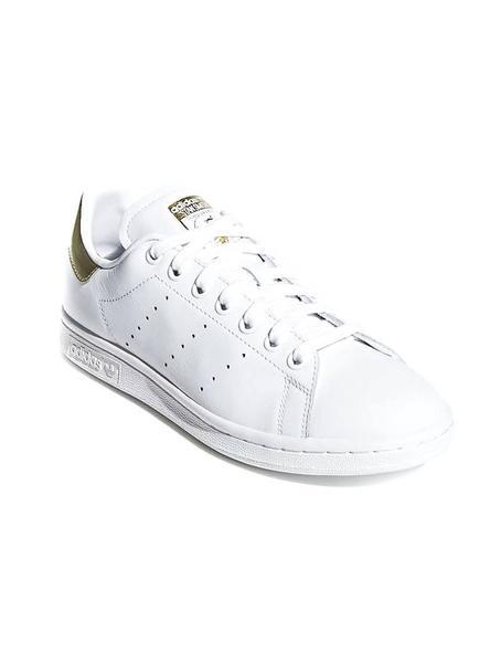 A bordo Abandono Biblia  Zapatillas Adidas Stan Smith Blanco Dorado Mujer