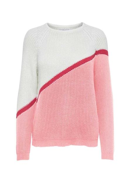 Jersey Only Hilde Block Rosa Mujer