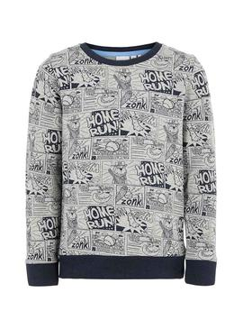 Sudadera Name It Otoon Gris Niño