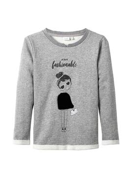 Sudadera Name It Fobeline Gris Niña