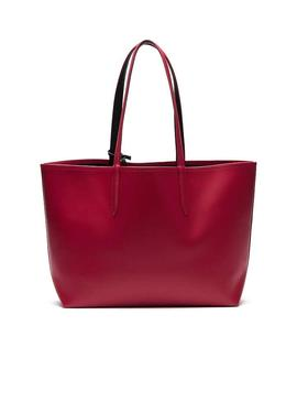 Bolso Lacoste Shopping Reversible Fucsia Mujer