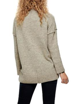 Jersey Only Laina Beige Mujer