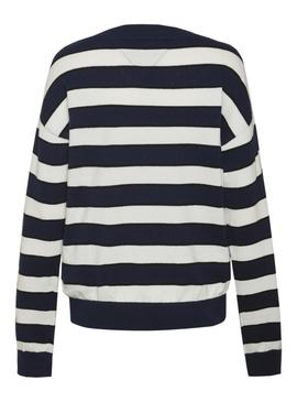 Jersey Tommy Jeans Sailor Stripe Azul Mujer