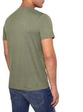 Camiseta Jack and Jones Camoclub Verde Hombre