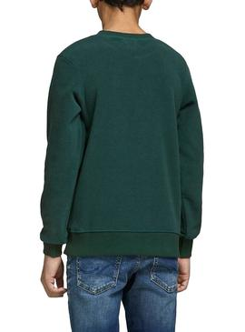 Sudadera Jack and Jones North Verde Niño