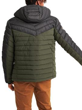 Chaqueta Superdry Tweed Mix Fuji Verde Para Hombre