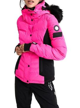 Chaqueta Superdry Luxe Snow Rosa Para Mujer