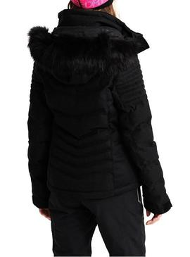 Chaqueta Superdry Luxe Snow Negro Para Mujer