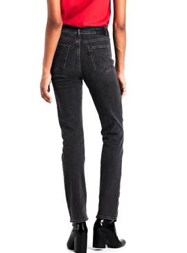 Pantalon Vaquero Levis 724 Straight Grey