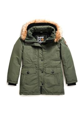 Parka Superdry Ashley Everet Verde Para Mujer
