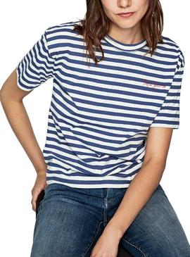 Camiseta Pepe Jeans Claire Azul Mujer