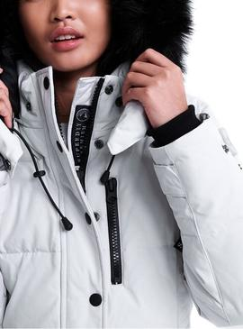 Parka Superdry Premium Down New Rescue Gris Mujer