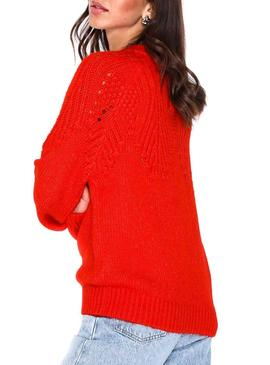 Jersey Only Lanelia Rojo Mujer