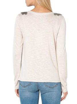 Camiseta Only Silvia Beige Para Mujer