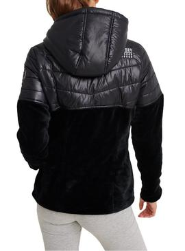 Chaqueta Superdry Storm Panel Hybrid Negro Mujer