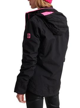Chaqueta Superdry Velocity Artic Negro Para Mujer