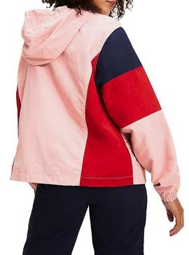 Cortavientos Tommy Jeans Colorblock Panel Mujer