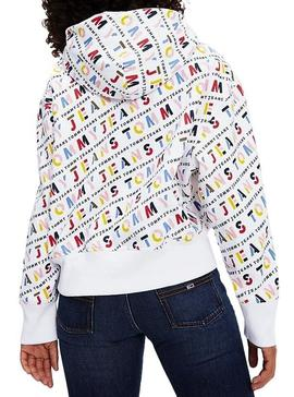 Sudadera Tommy Jeans Estampada Capucha Mujer