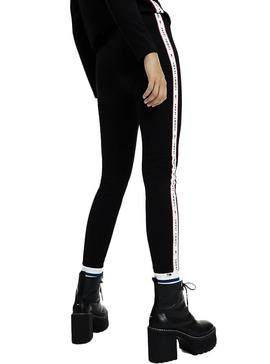Leggings Tommy Jeans Tape Negro Para Mujer