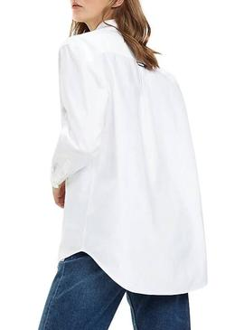 Camisa Tommy Jeans Classics Boyfriend Blanco Mujer