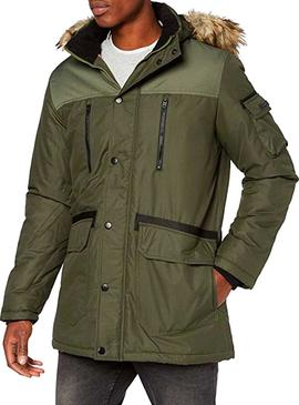 Cazadora Jack and Jones Globe Verde Hombre