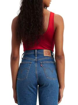 Body Levis Graphic Logo Rojo Para Mujer