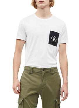 Camiseta Calvin Klein Monogram Pocket Blanco