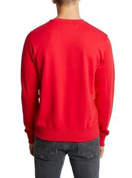 Sudadera Calvin Klein Taping Through Monogram Rojo