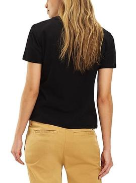 Camiseta Tommy Jeans Classic Negro Mujer