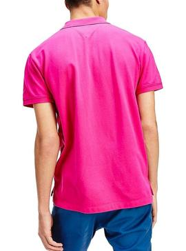 Polo Tommy Jeans Classic Solid Fucsia Hombre