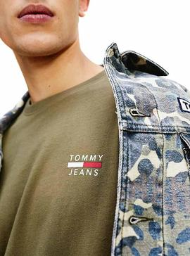 Camiseta Tommy Jeans Logo Verde Hombre