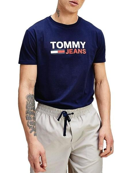 Camiseta Tommy Jeans Corp Azul Hombre