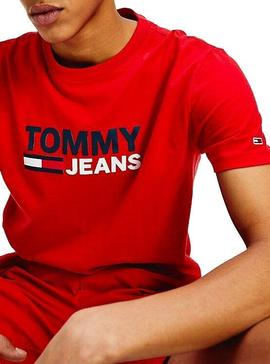 Camiseta Tommy Jeans Corp Rojo Hombre
