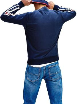 Sudadera Tommy Jeans Branded Azul Hombre
